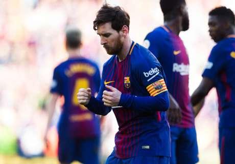 Tarian Messi Warnai Kemenangan Barca