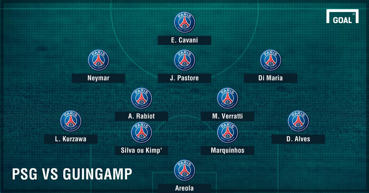 Compo PSG vs Guingamp