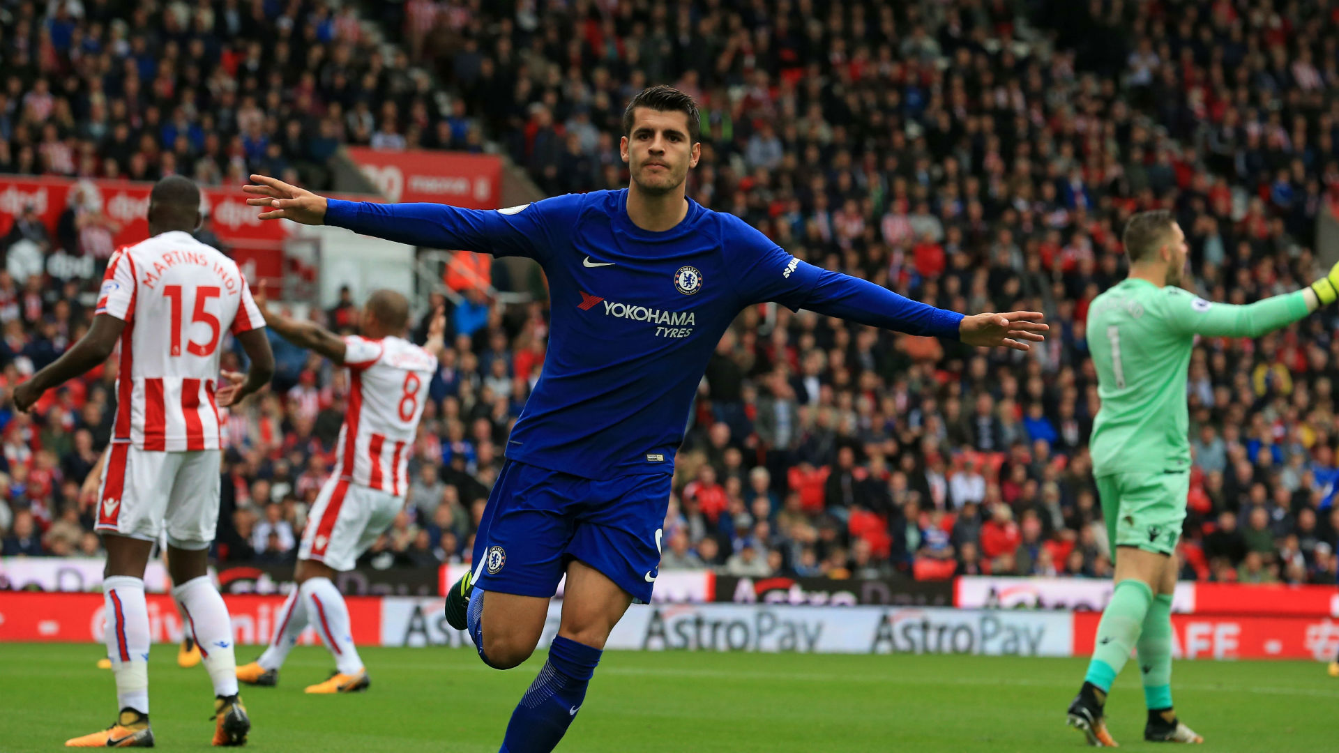 Alvaro Morata Chelsea Stoke 230917