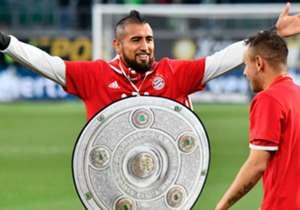 La celebración oficial será la próxima fecha, ante el apremiado Darmstadt de Frings en el Allianz Arena. Hoy, Vidal tomó un torfeo de cartón que les regaló la hinchada.
