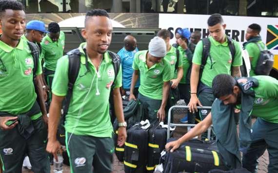 WATCH: Bafana touch down in Uyo