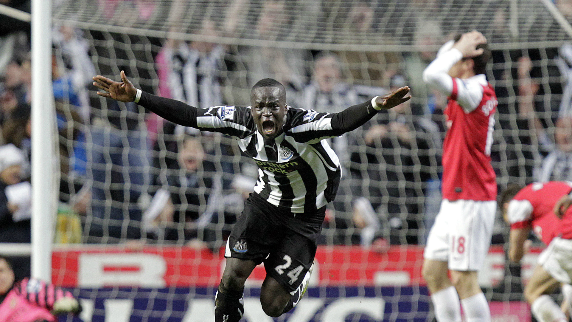 Cheik Tiote Newcastle United v Arsenal Premier League 05022011