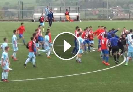 ► Pelea entre cadetes Rayo - Sporting