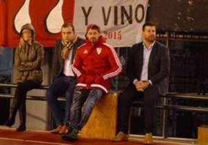 Frente al DIM, por la Libertadores, vio el partido en la cancha.