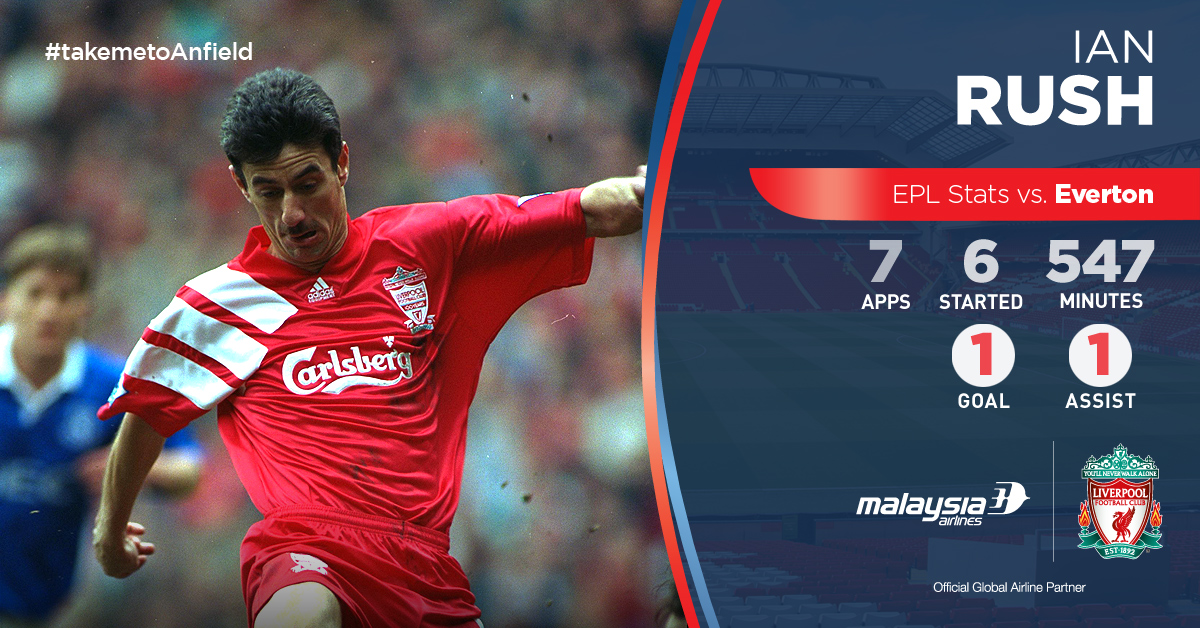 Ian Rush, Liverpool, Malaysia Airlines, 03/04/2017