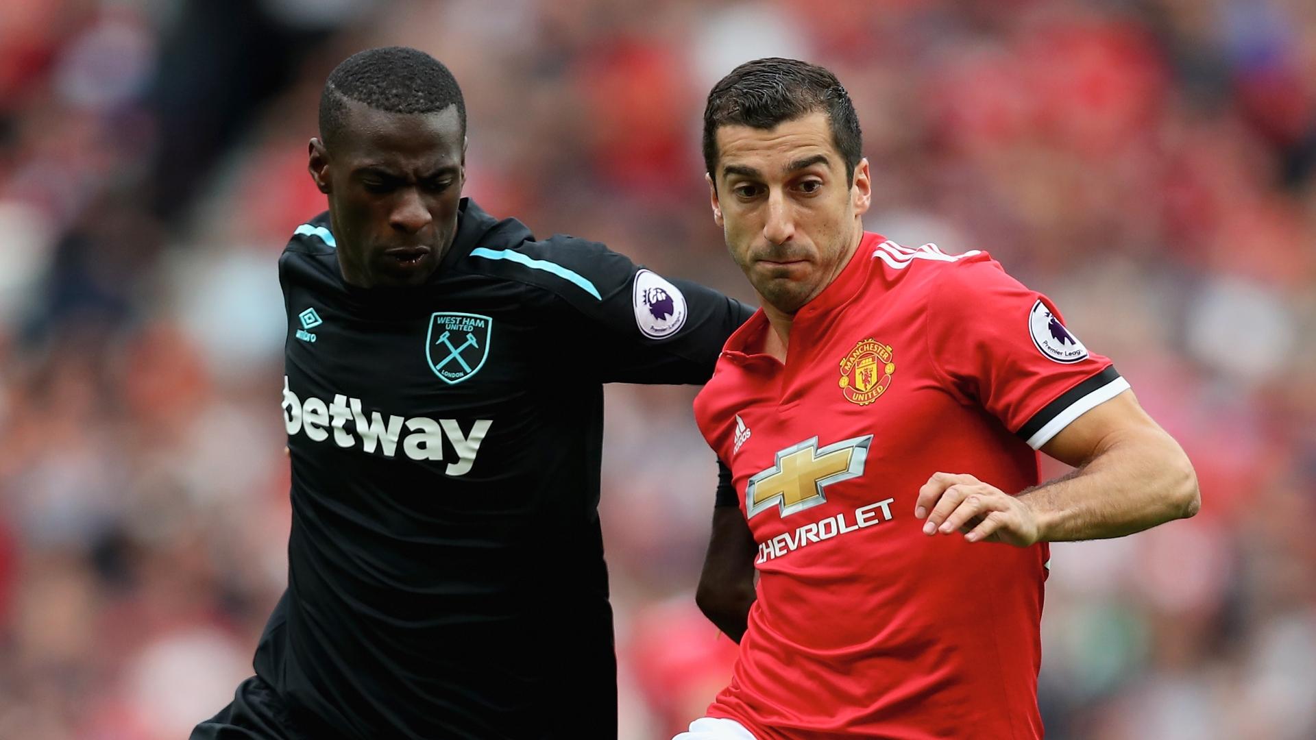 Pedro Obiang, Henrikh Mkhitaryan, Man Utd vs West Ham