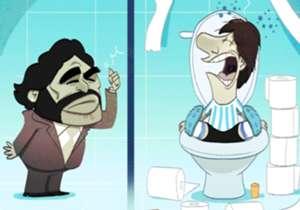 Prestanite od Messija raditi Boga, kakav to vođa ide 20 puta na WC prije utakmice!, rekao je Maradona