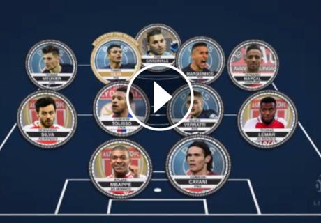 El once ideal de la Ligue 1 2016-17