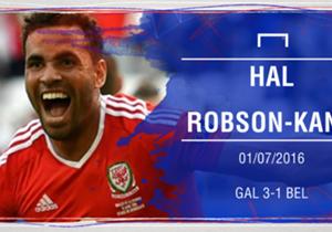 HAL ROBSON-KANU | El centrocampista del Reading fue el mejor de la remontada de Gales ante Bélgica (3-1) tras su golazo que dejó sentada a la defensa rival.