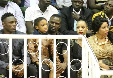 Wanyama & family watches Basketball