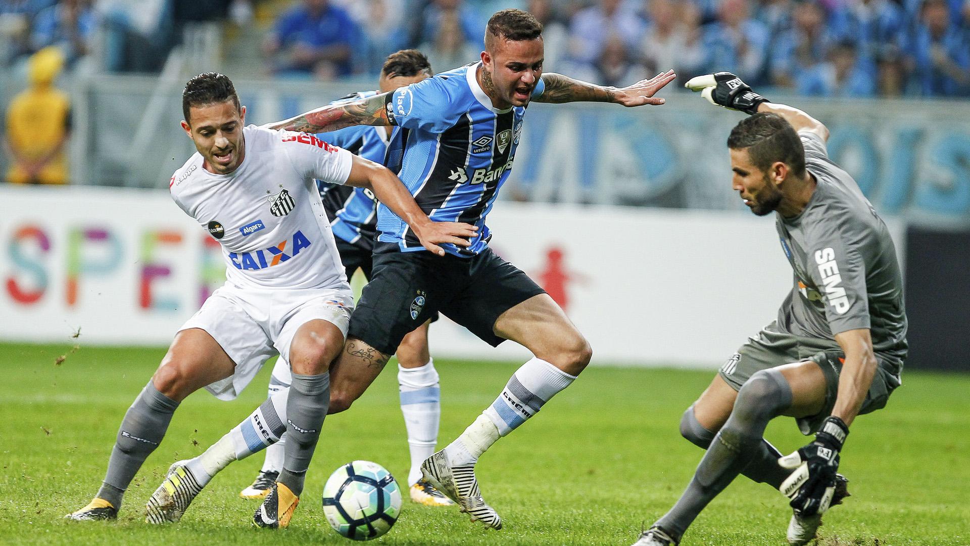 Luan Grêmio x Santos 31 07 17
