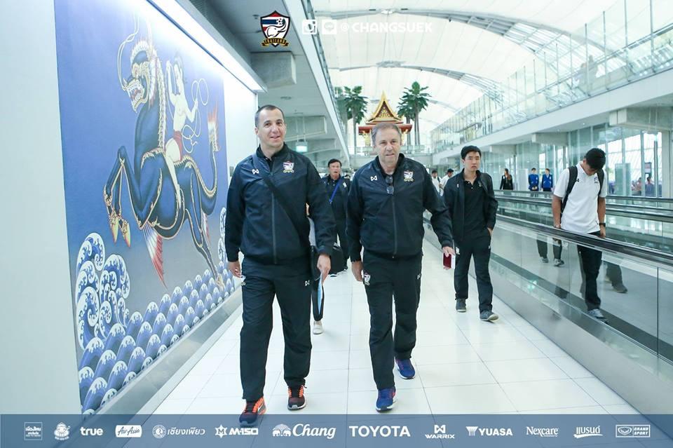 ทีมชาติไทย เดินทางกลับ