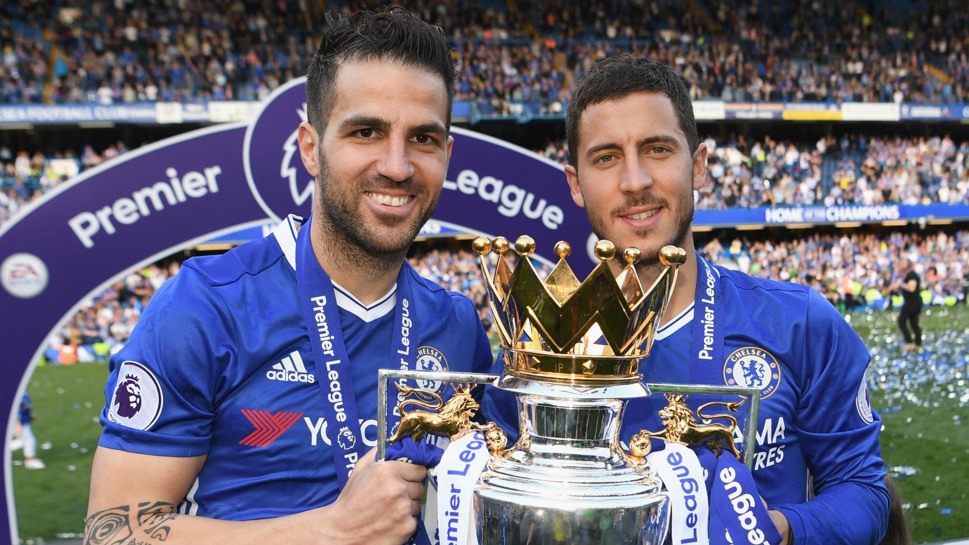 Cesc Fabregas Eden Hazard Chelsea Premier League