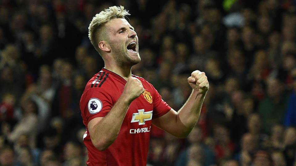 Luke Shaw Manchester United Premier League 2018