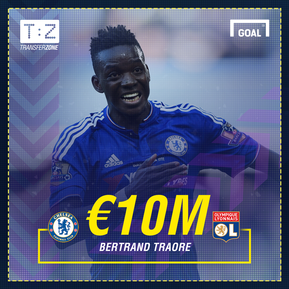 Bertrand Traore: Lyon sign Chelsea striker for £8.8m