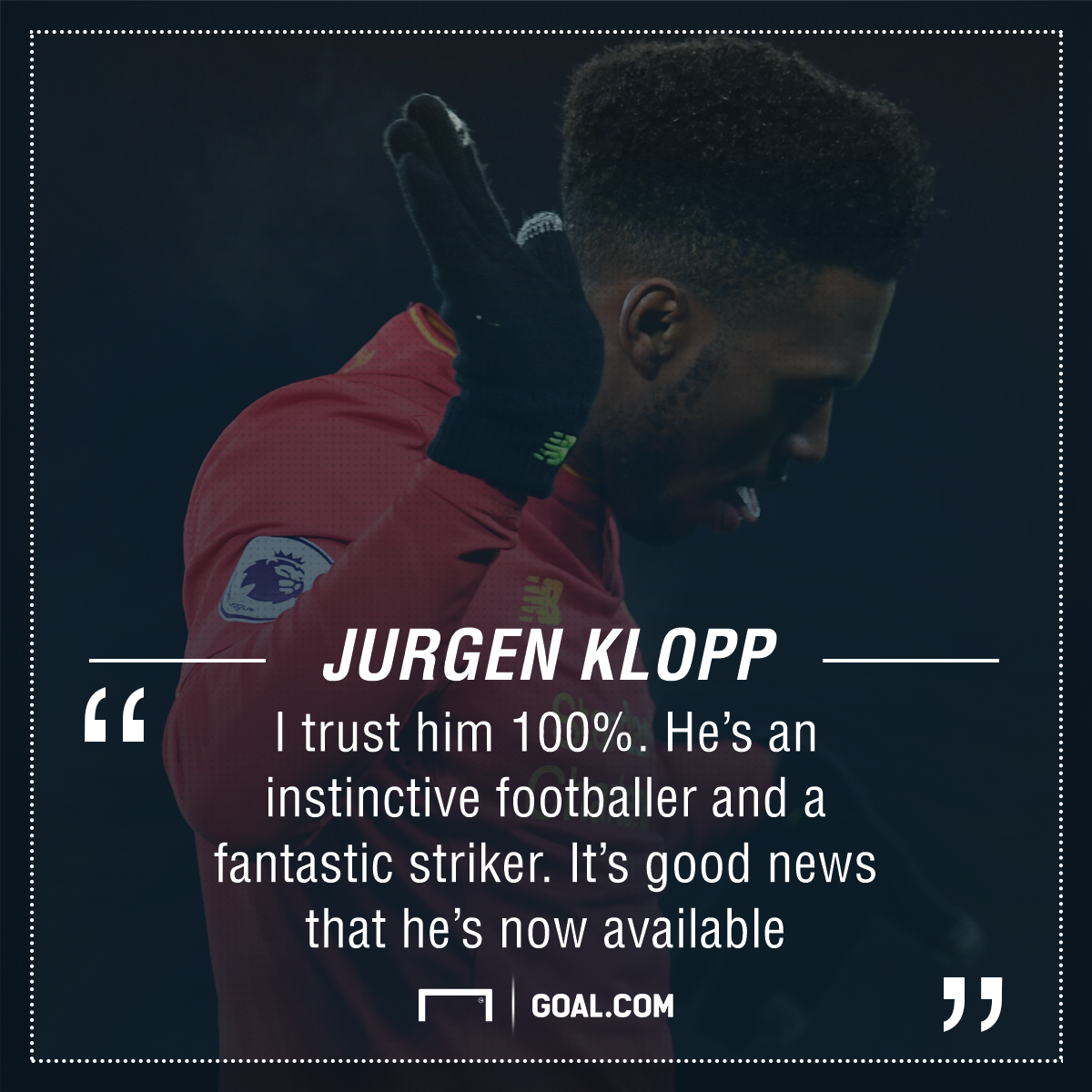 GFX Klopp quote Sturridge