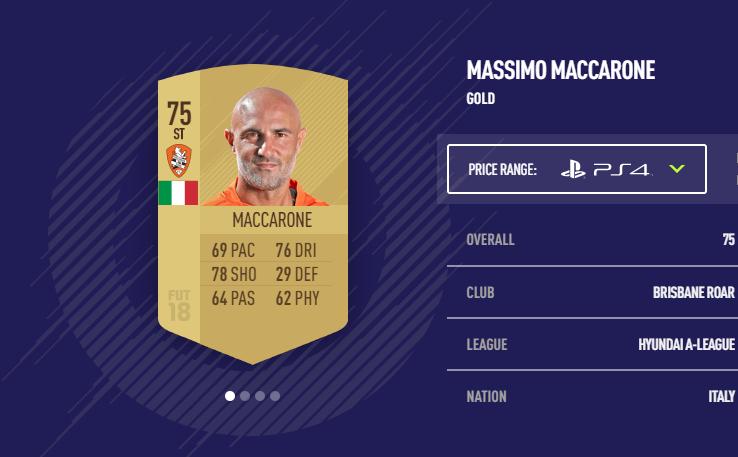 Massimo Maccarone FIFA 18