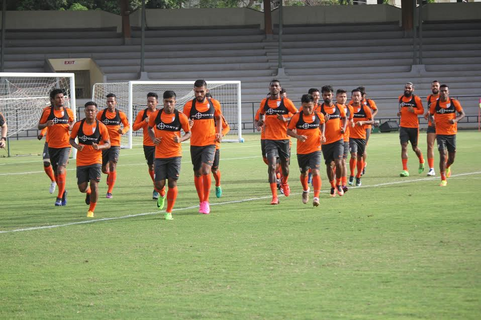 India training ahead of the international friendly against Nepal