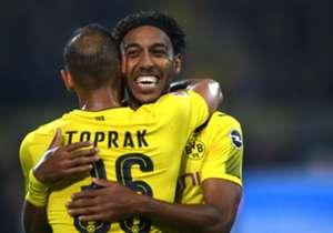 Pierre-Emerick Aubameyang (Borussia Dortmund): Aubameyang scored a hat-trick for Borussia Dortmund in their 6-1 demolition of Borussia Monchengladbach in a German Bundesliga encounter. The three goals took the Gabonese's tally to eight goals in six lea...