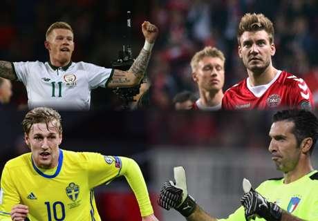 Italy-Sweden & Rep. Ireland-Denmark in WC play-offs