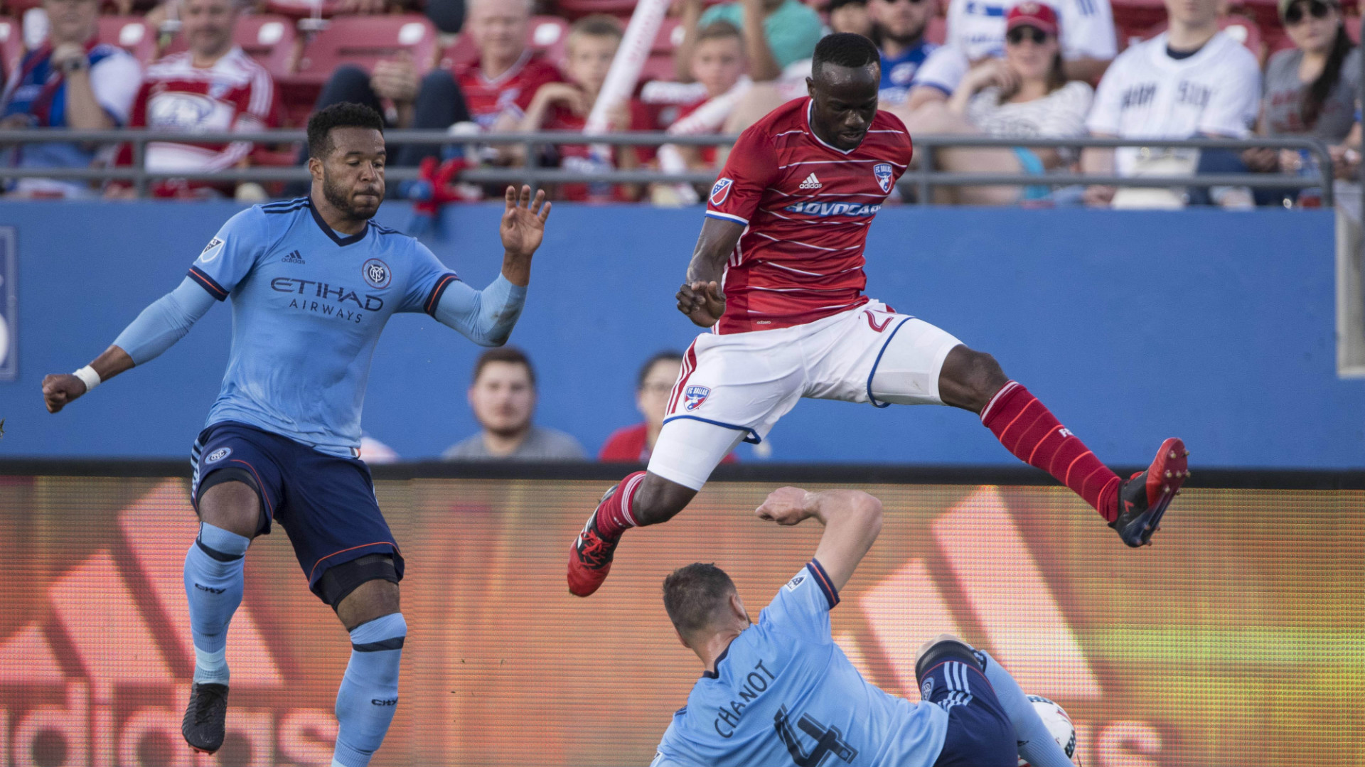 Roland Lamah FC Dallas Maxime Chanot New York City FC