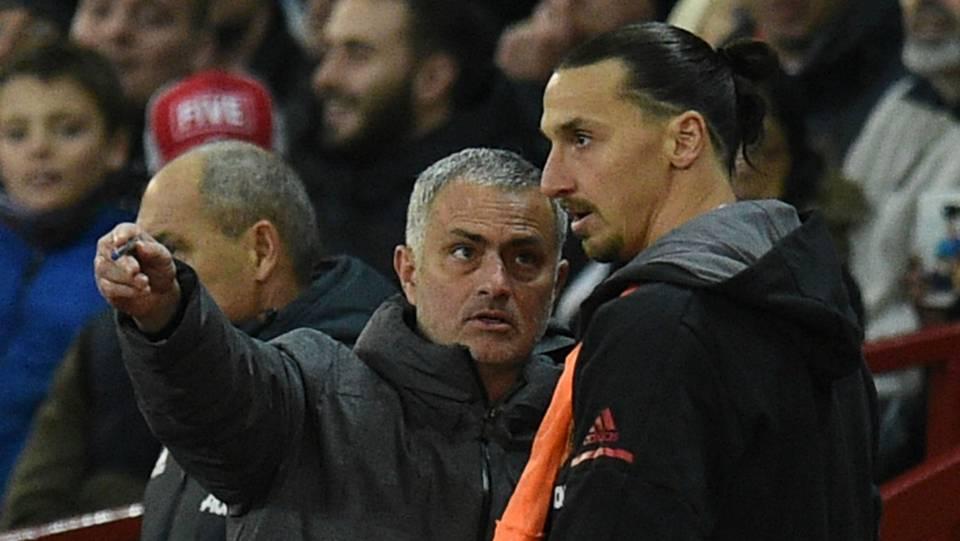 Jose Mourinho Zlatan Ibrahimovic Manchester United