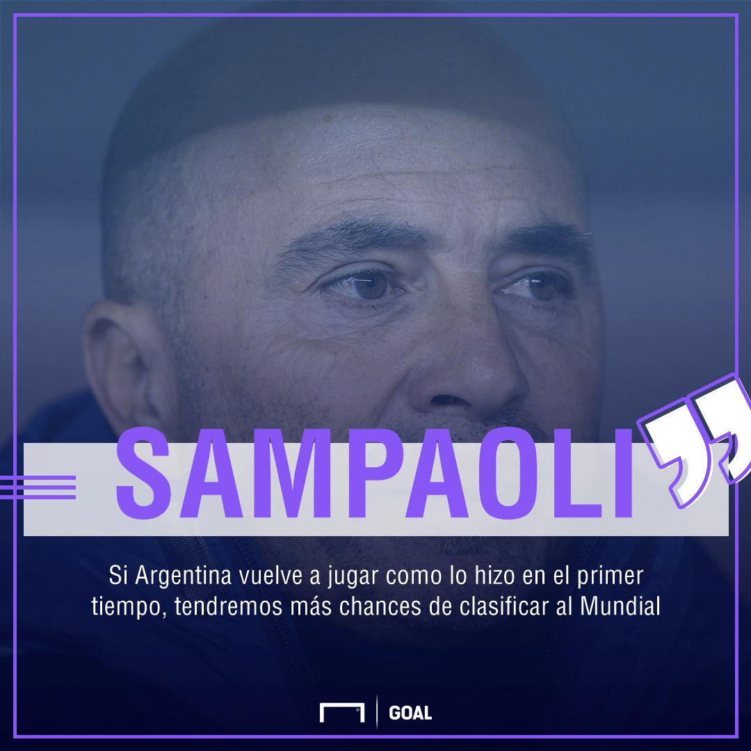 Sampaoli cambió protagonistas y no hay definición