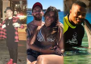 Check out how the world's best footballers - including Franck Ribery, Lionel Messi and Patrice Evra - enjoyed their summer holidays in the off season