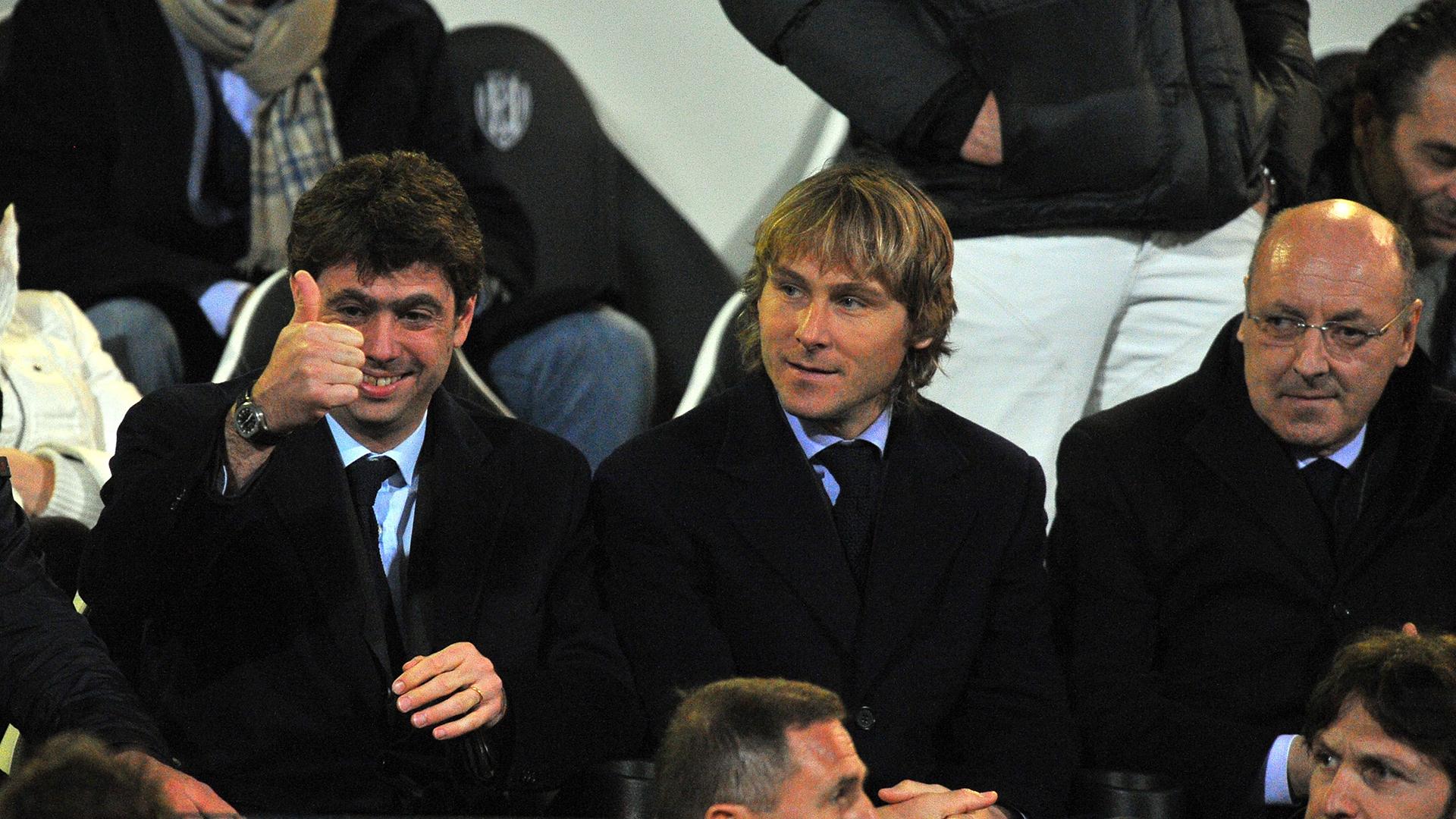 Andrea Agnelli Nedved Marotta Juventus
