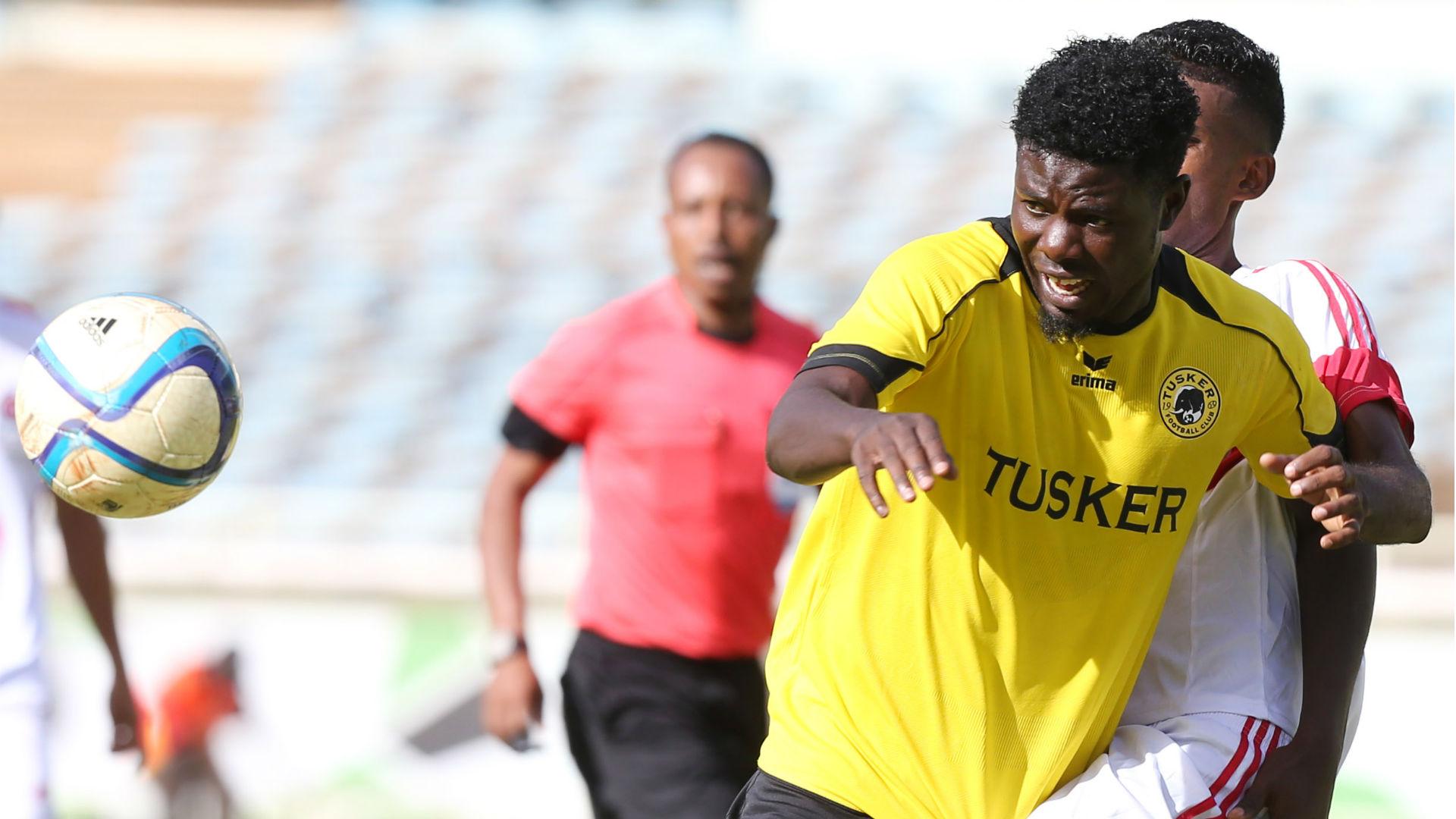 Allan Wanga vie for the ball