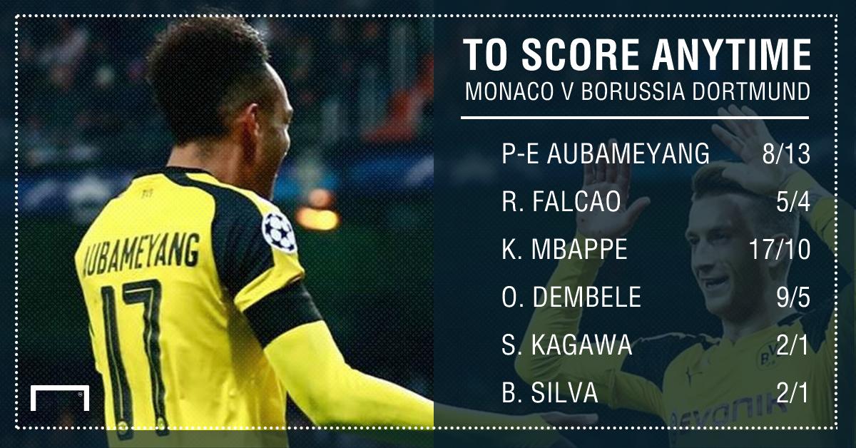 GFX Monaco Borussia Dortmund scorer betting