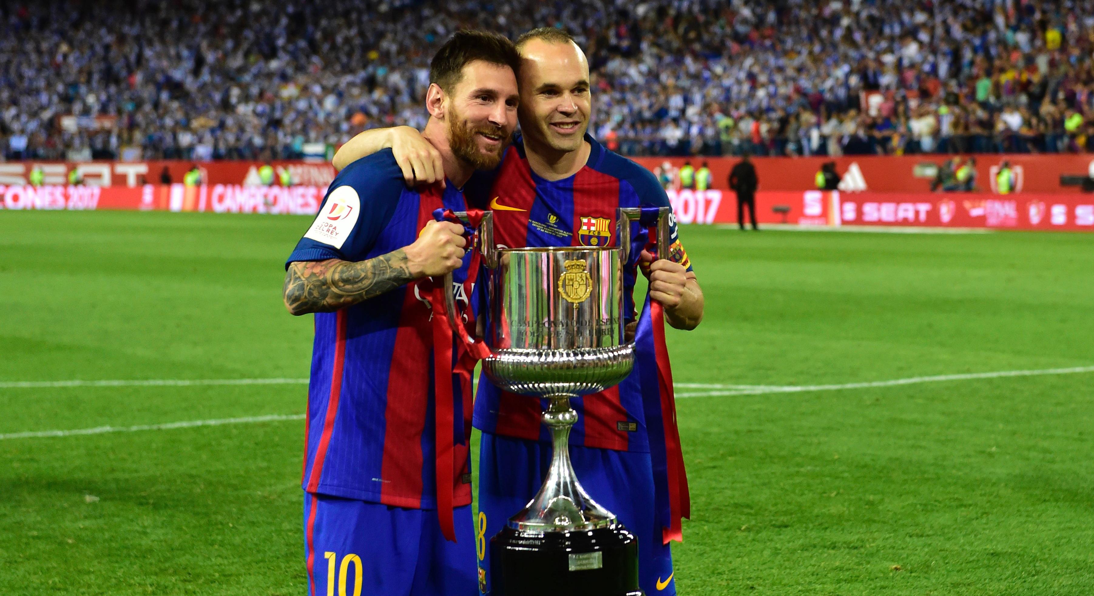 Lionel Messi Andres Iniesta Barcelona Copa del Rey