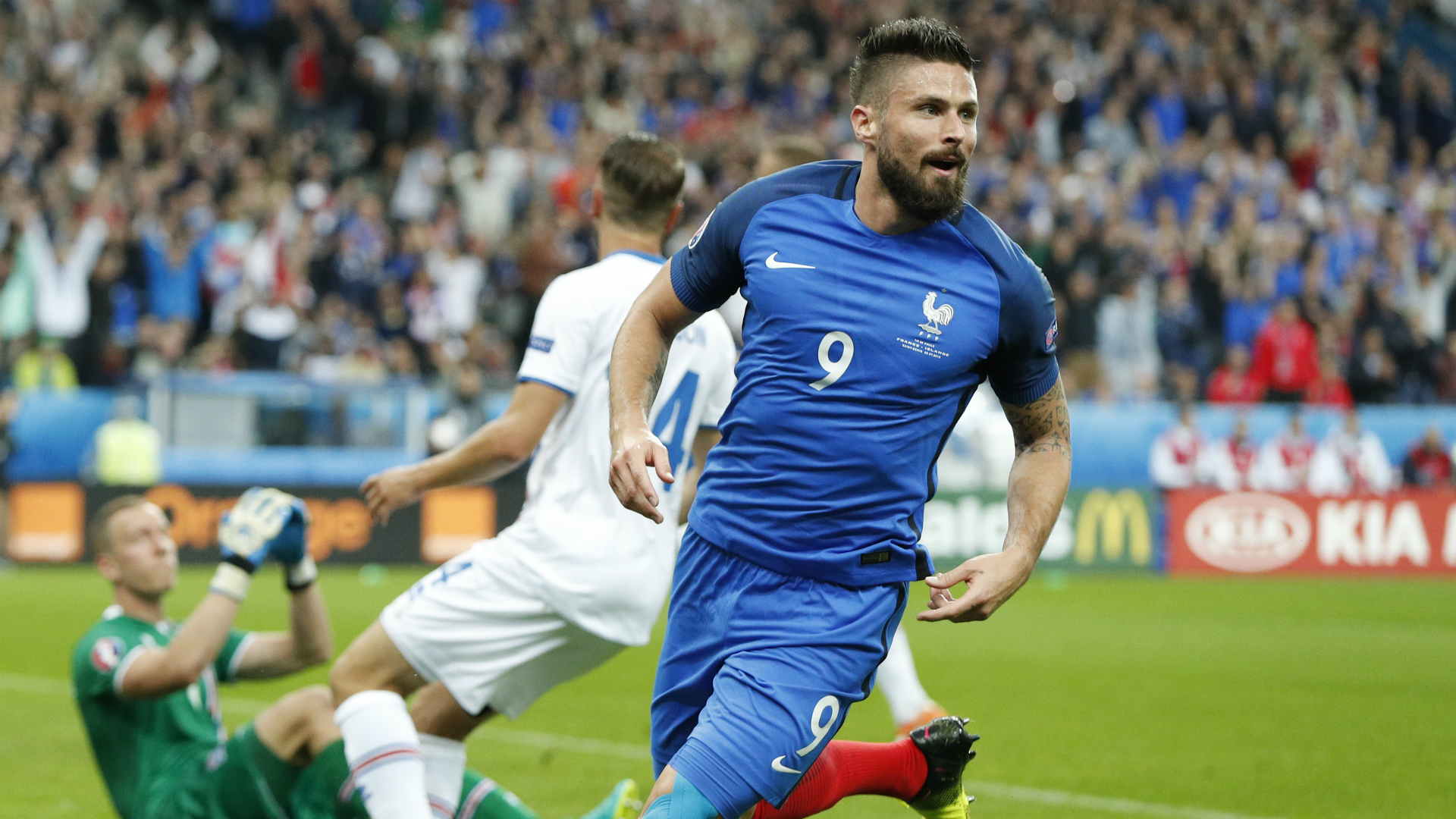 Euro 2016: Giroud brace seals France's win over Iceland
