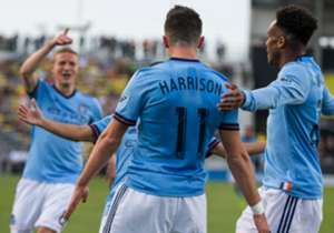 With David Villa sidelined and Andrea Pirlo on the bench, young standouts Yangel Herrera and Jack Harrison led New York City FC past Columbus.