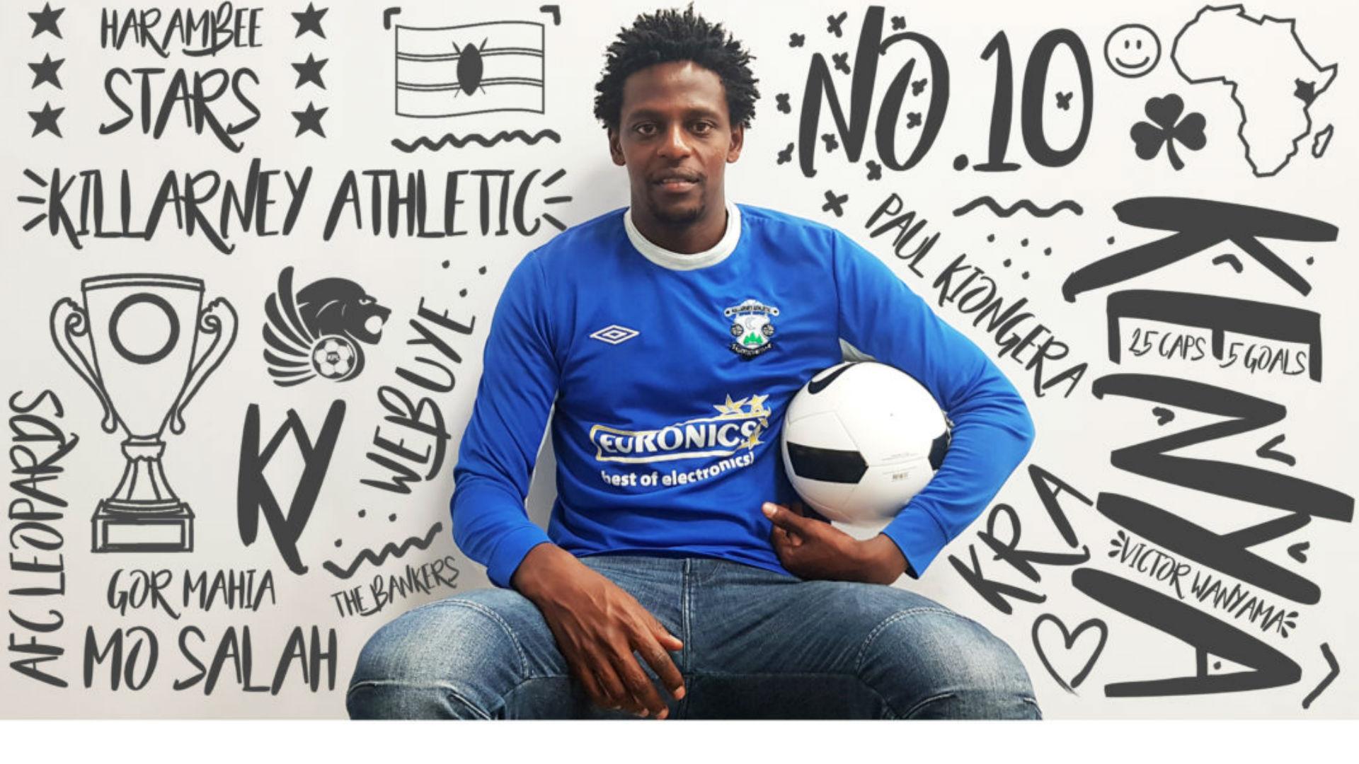 Paul Kiongera: Killarney Athletic sign former Gor Mahia striker