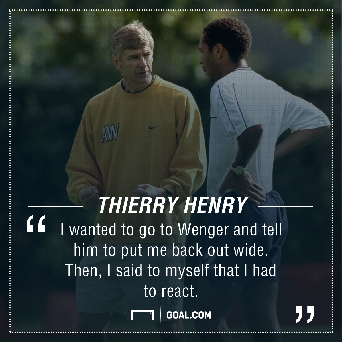 Thierry Henry Arsene Wenger PS
