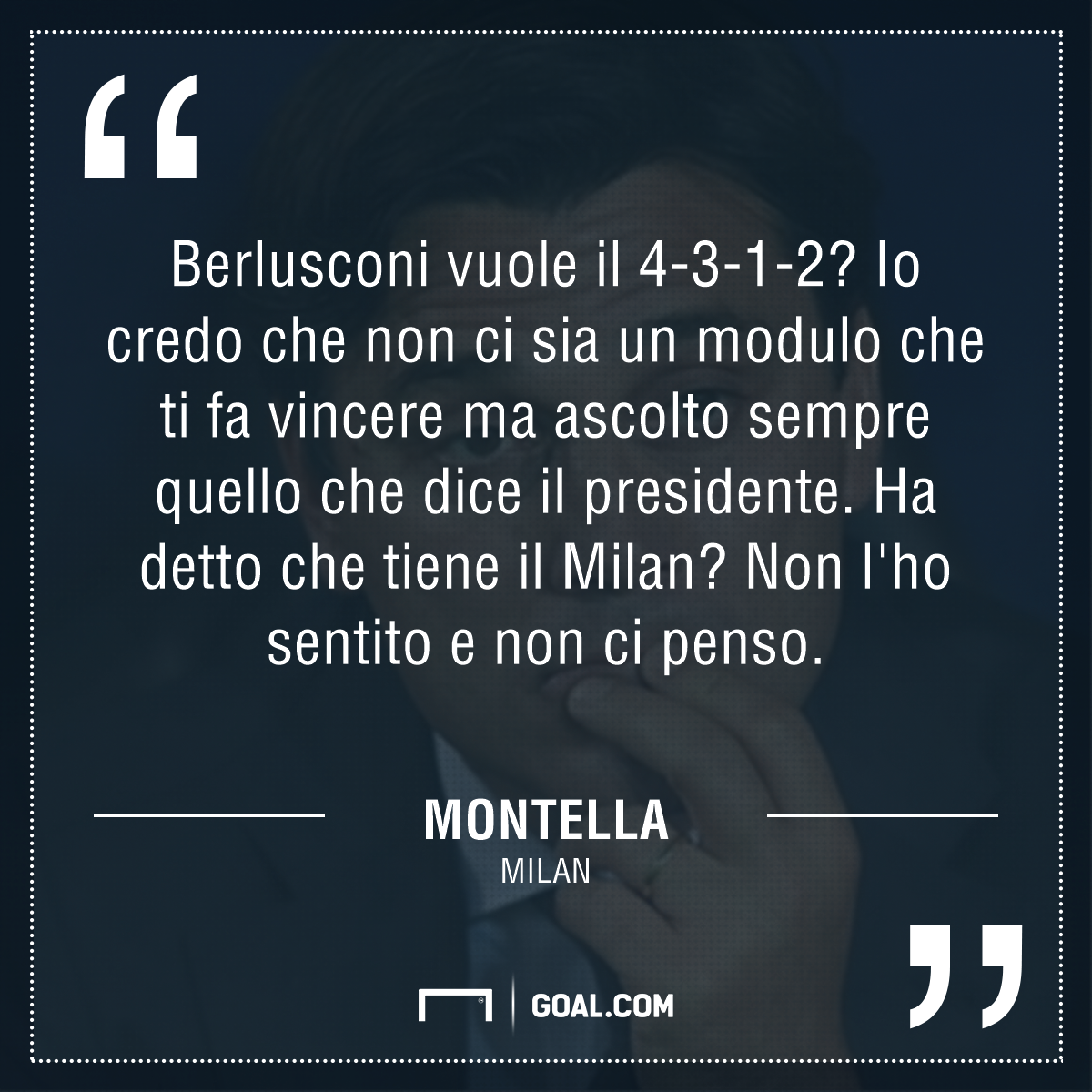 Milan, Vincenzo Montella: