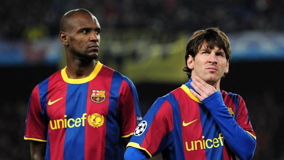 Eric Abidal Lionel Messi Barcelona