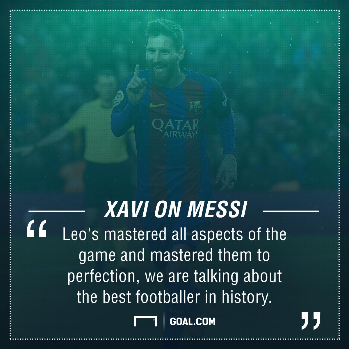 Xavi Lionel Messi Barcelona