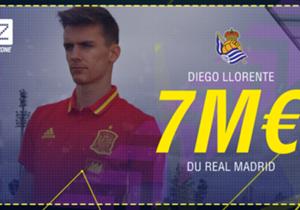 """<p><font color=""""#009966"""" size=""""3""""><b>Diego Llorente</b></font></p> <p><em>Défenseur l 23ans </em></p> <p><span style=""""font-size:medium;""""><strong><em><font color=""""#009966""""><font size=""""3"""">Real Madrid </font> </font> </em> <span style..."""
