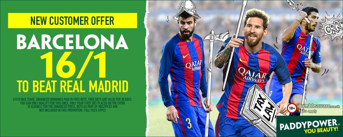 GFX Real Madrid Barcelona enhanced betting