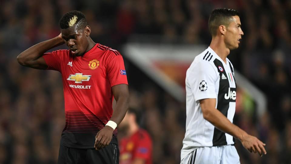 Cristiano Ronaldo Paul Pogba Manchester United Juventus UEFA Champions League 2018