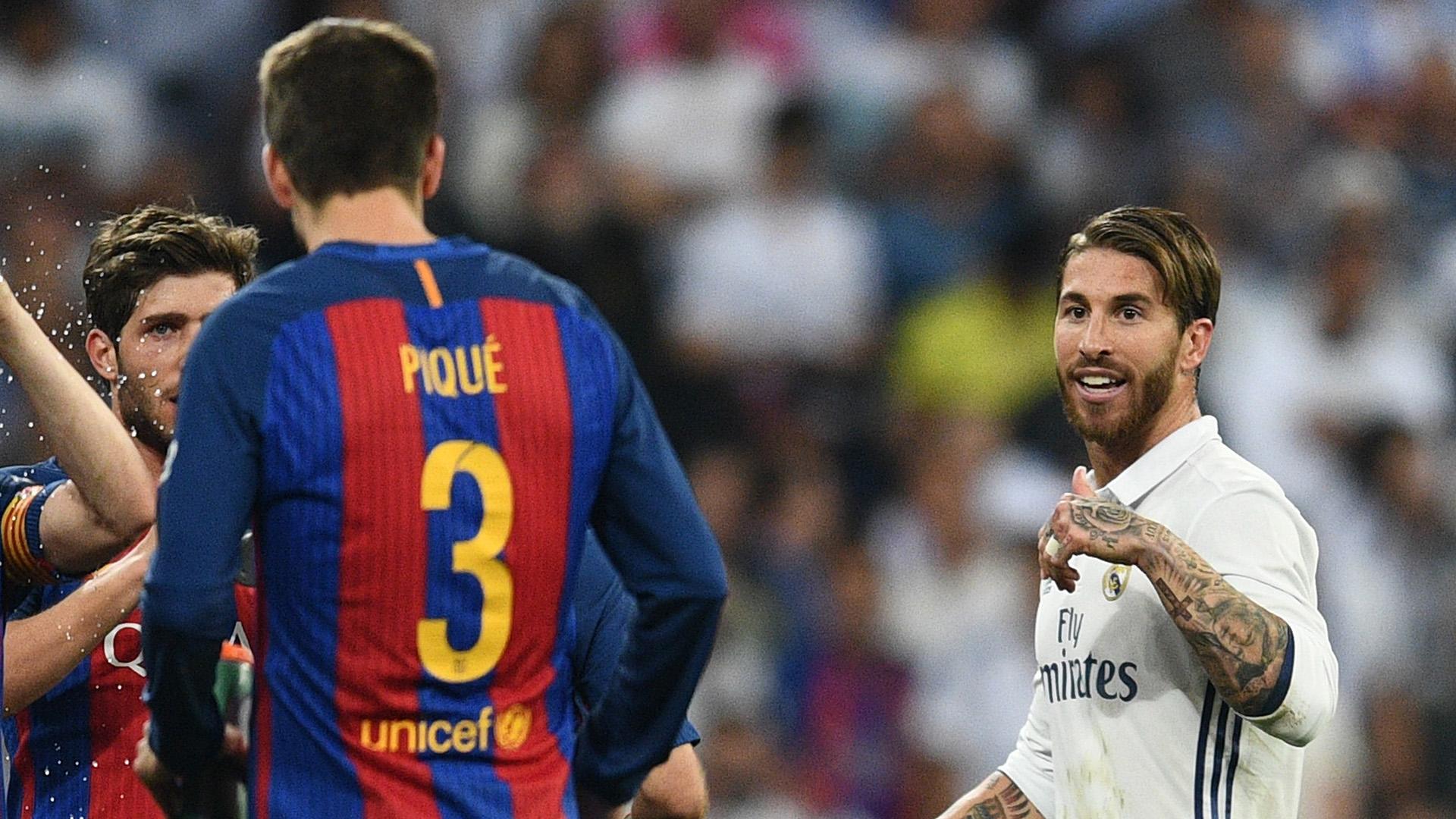 Pique Sergio Ramos Real Madrid Barcelona Primera Division 25042017