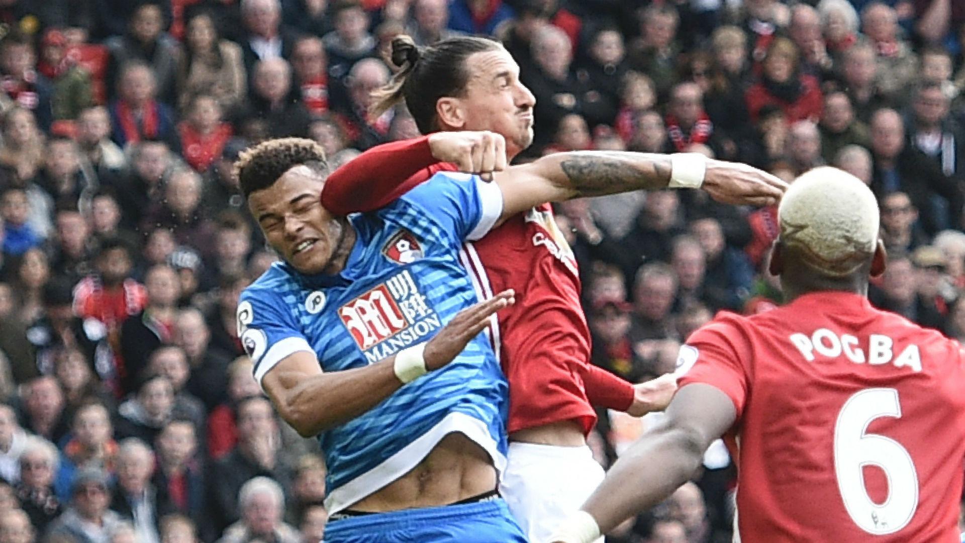 Zlatan Ibrahimovic Premier League Manchester United v Bournemouth