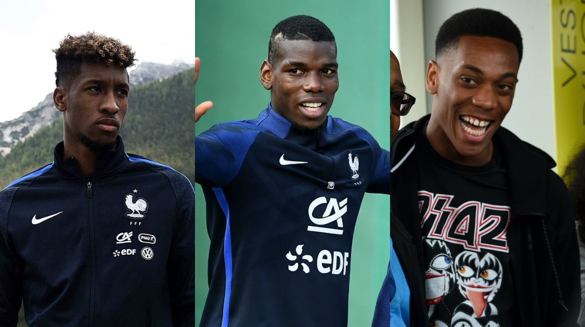 Kingsley Coman Paul Pogba Anthony Martial
