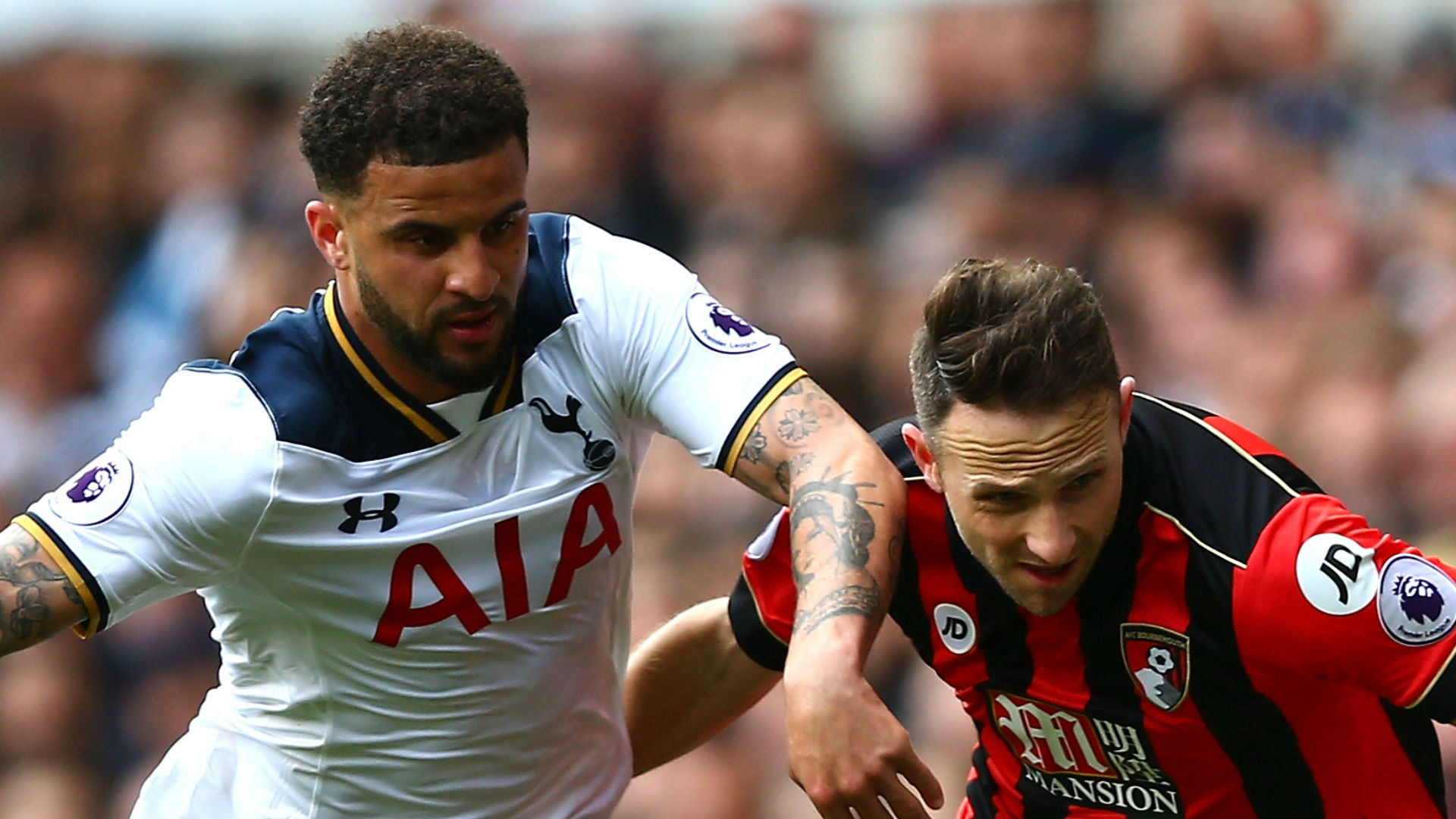 Kyle Walker Tottenham Marc Pugh Bournemouth