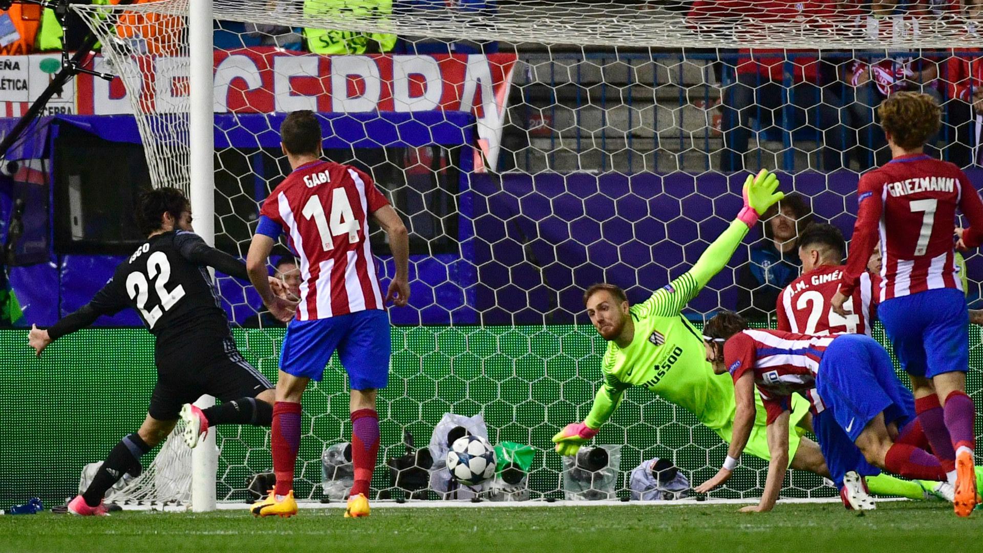 Isco Oblak Atletico Madrid Real Madrid UEFA Champions League