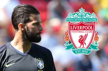 Liverpool complete record £65m signing of Alisson from Roma