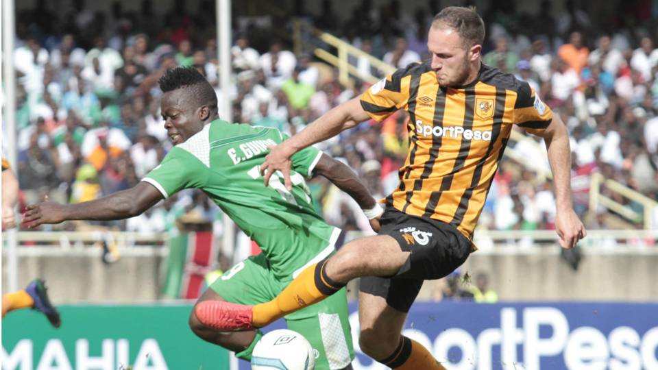 Ephraim Guikan of Gor Mahia v Hull City.