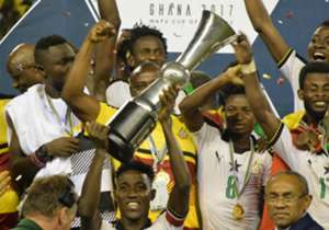 The ruthless Black Stars put four past their Nigerian counterparts who could only respond once to get the competition's trophy at the Cape Coast Stadium on Sunday